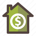 business, finance, home, house, money icon