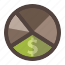 design, diagram, graphic, info, money, pie chart icon