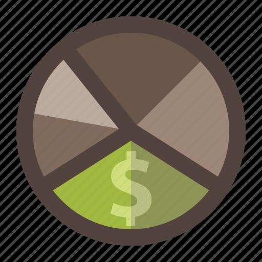 design, diagram, graphic, info, money, pie chart icon