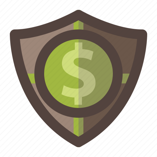 investment, money, safety, save, secure, shield icon