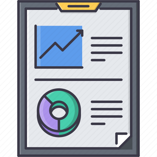 economy, finance, metrics, money, presentation, report icon