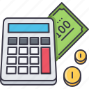 accountant, calculator, coin, count, economy, finance, money icon