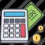 accountant, calculator, coin, count, economy, finance, money icon