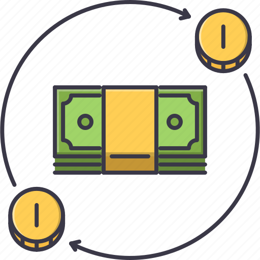 banknote, economy, finance, investment, money, turnover icon