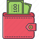 banknote, economy, finance, money, payment, purse icon