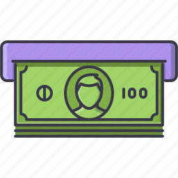 atm, bank, banknote, economy, finance, money icon