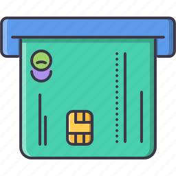 atm, bank, card, credit, economy, finance, money icon