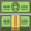 bank, banknote, economy, finance, money icon