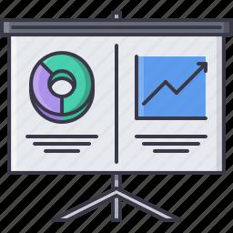 economy, finance, metrics, money, presentation, report icon