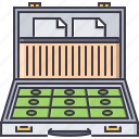 banknote, case, document, economy, finance, money icon