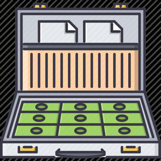 banknote, case, document, economy, finance, money icon