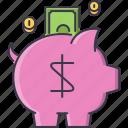 bank, box, coin, finance, money, save