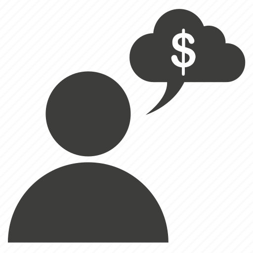 account, avatar, business, cloud, dollar, human, male, man, people, person, profile, think, user icon