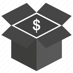 box, business, buy, cash, dollar, finance, gift, money, online, payment, price icon