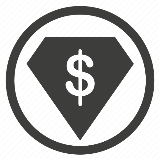 business, cash, circle, currency, dollar, financial, money, office, payment, price, sale icon