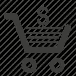 buy, cart, dollar, sell icon