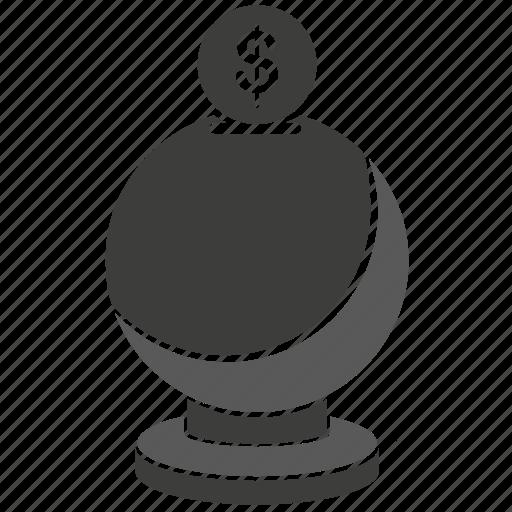 dollar, money, money box icon