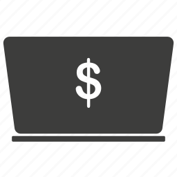 bank, business, buy, cash, computer, currency, dollar, ecommerce, finance, laptop, payment, price icon