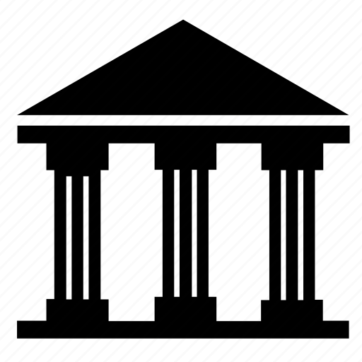 bank, banking, building, court, finance, institution, state icon