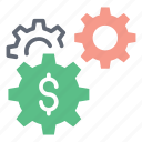 business management, capital management, cash management, financial management, money management icon