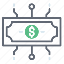 asset, banknote, currency, finance network, investment icon