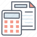 budget estimate, business accounting, business budget, data budget, expense, financial accounting icon