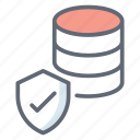 database protection, database security, secure data, server protection, server security icon