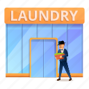 business, launder, laundry, man, money, rich icon