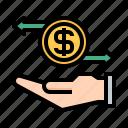exchange, hand, coin, money, management, cash, finance