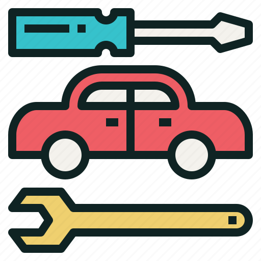 car, repair, screwdriver, wrench icon
