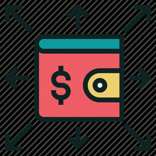 expense, money, spend, wallet icon