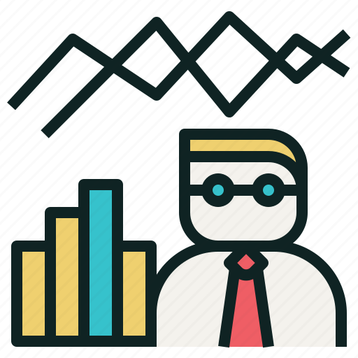 bar, chart, fund, line, manager icon