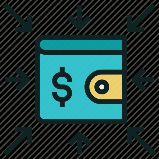 income, money, receive, wallet icon