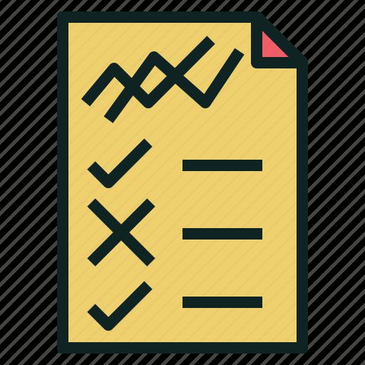 chart, check, line, list, regulation, rule icon