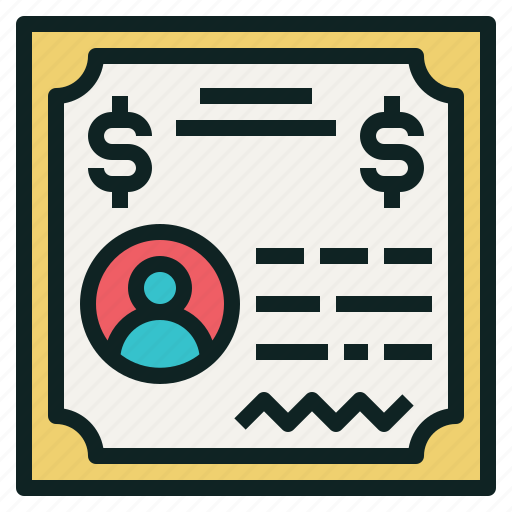 bond, certificate, document, security, shareholder, stock icon