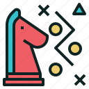 chess, knight, move, strategy icon