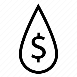 cash, cash flow, dollar, drop, liquid, money, savings icon