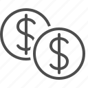 cent, coin, currency, dollar, finance, money icon