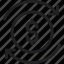 arrow, dollar, exchange, money icon icon