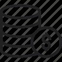 cart, coin, doller, ecommerce, shipping, shop, shopping icon icon