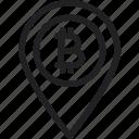 bitcoin, location, map icon icon
