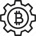 bitcoin, gear, settings, settings icon icon icon