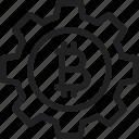 bitcoin, gear, settings, settings icon icon icon
