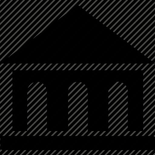 building, cash, column, curency, earn, finance, money icon