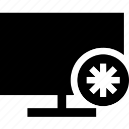 asterisk, computer, desktop, monitor, screen icon
