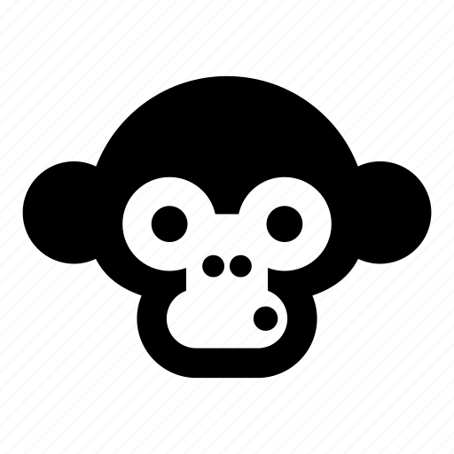 baboon, chimp, chimpanzee, monkey, monkey face, orangutan, primate icon