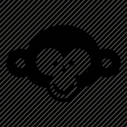 chimp, chimpanzee, monkey, monkey face, orangutan, primate, smile icon