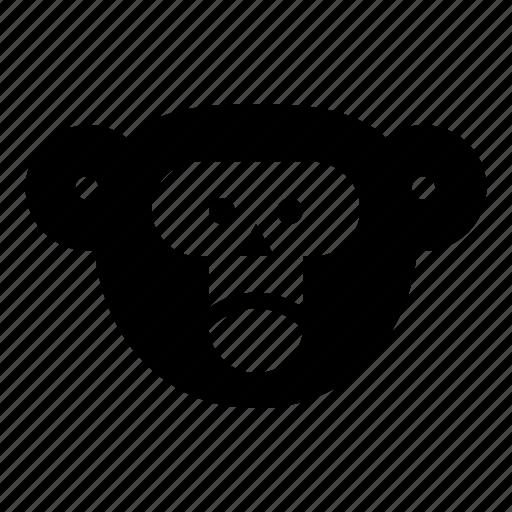 chimp, monkey, monkey face, orangutan icon