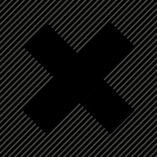 bin, cancel, clear, close, cross, delete, empty icon