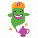 emoji, genie icon